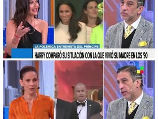 El Prof. Rubén Gavaldá junto a Horacio Cabak por América TV hablan de la Corona Británica