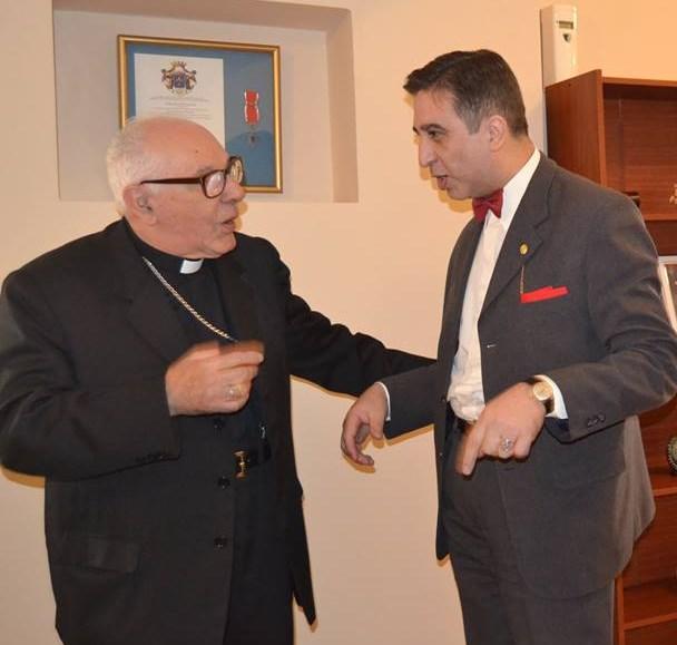 Con el cardenal Villalba