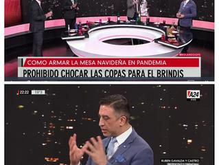 El Prof. Rubén Gavaldá convocado por los medios nacionales habló del arte de recibir en  las fiestas