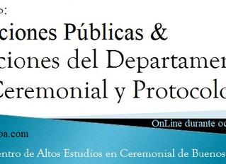 Seminario: Relaciones Públicas & Departamento de Ceremonial y Protocolo