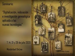 """Seminario: """"Digitalización, indexación e investigación genealógica aplicada a las nuevas tecnologías"""