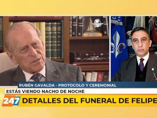 El Prof. Rubén Gavaldá en Canal 24/7 adelantó los detalles del funeral del príncipe de Edimburgo