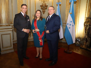 S.E. doña Ivonne Bonilla, Embajador de Honduras en Argentina visitó el CAECBA