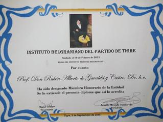Designación en el Instituto Belgraniano de Tigre