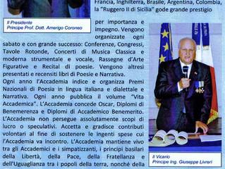 """Acuerdo con la Accademia Universitaria di Lettere, Arti e Scienze """"Ruggero II di Sicilia"""""""