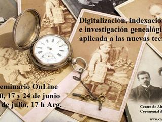 Seminario: Digitalización, indexación e investigación genealógica aplicada a las nuevas tecnologías