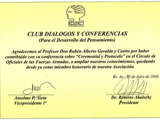 El Prof. Rubén Alberto Gavaldá y Castro designado Miembro honorario del Club Diálogos y Conferencias