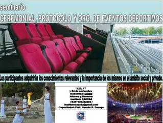 Seminario: Ceremonial, Protocolo y Organización de Eventos Deportivos