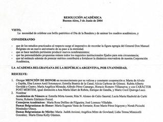 La Academia Belgraniana de la República Argentina distinguió al Prof. Rubén A. Gavaldá y Castro