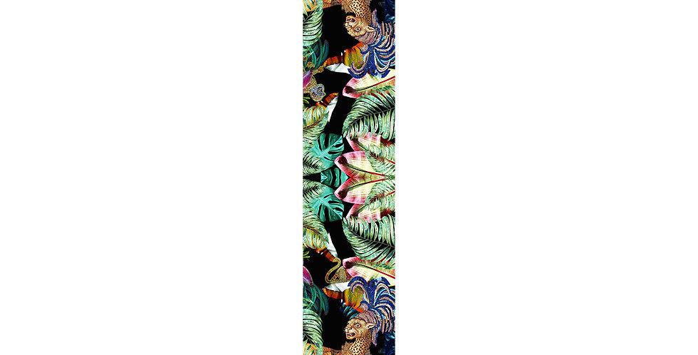 Jungle Depths - Skinny scarf - Black