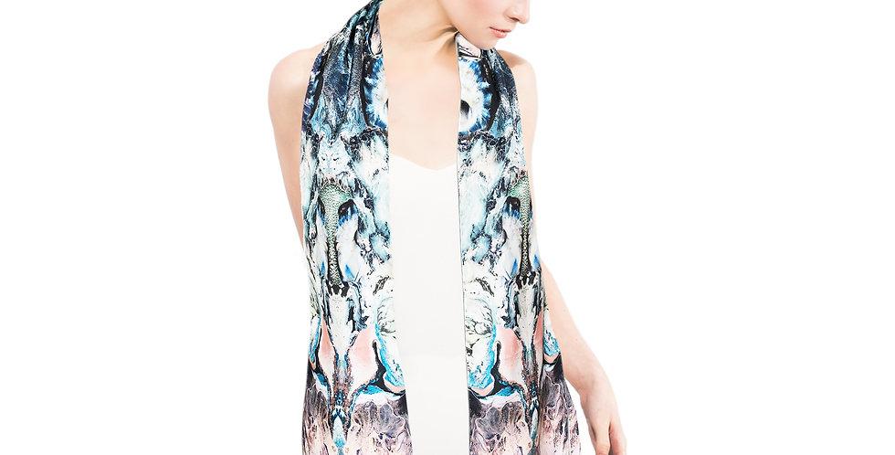 Ocean Depths - Skinny scarf