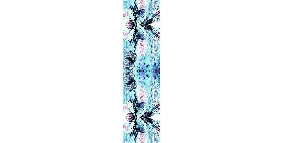 Frogs and Feathers - Skinny scarf - Aqua