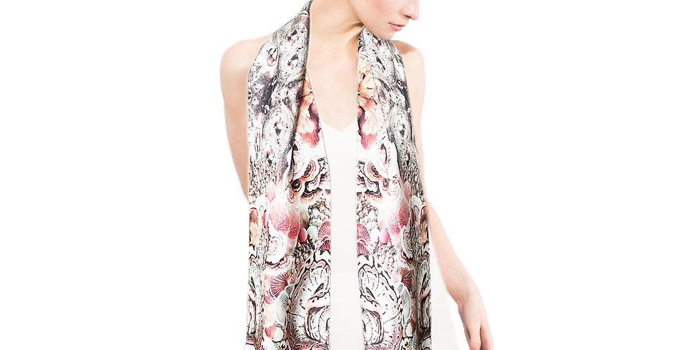 Snakes and Coral - Skinny scarf