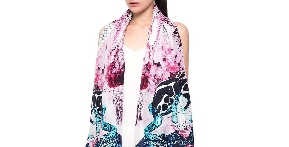 Frogs and Feathers - Large - Pink