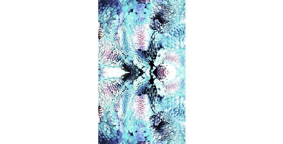 Frogs and Feathers - Large - Aqua