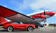 Vintage car and plane