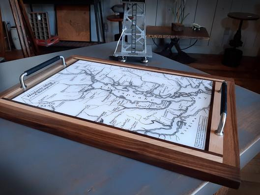 Zana Wood Artz Chesapeake Map Tray