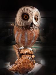Warren Brown bird carving