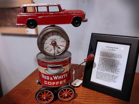 "Jim Doussard Steampunk Clock ""Morning Rush"""