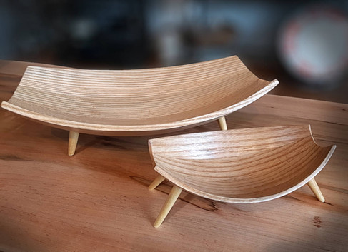Bent Wood Bowls by Robert Arnold