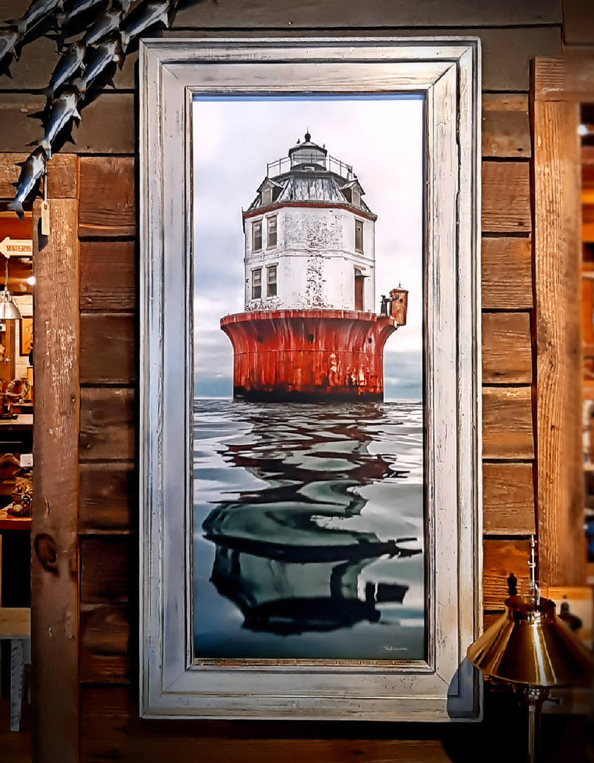 "Jay Fleming print on canvas ""Point NoPoint Lighthouse"""