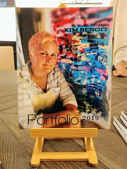 Portfolio book on the mini easel.JPG