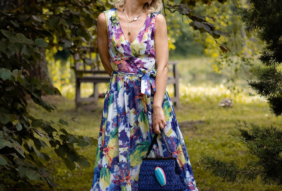 Ruffled cambric dress