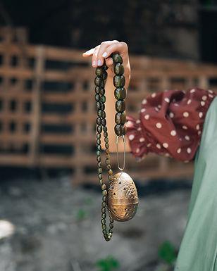 Restyled vintage bag-necklace