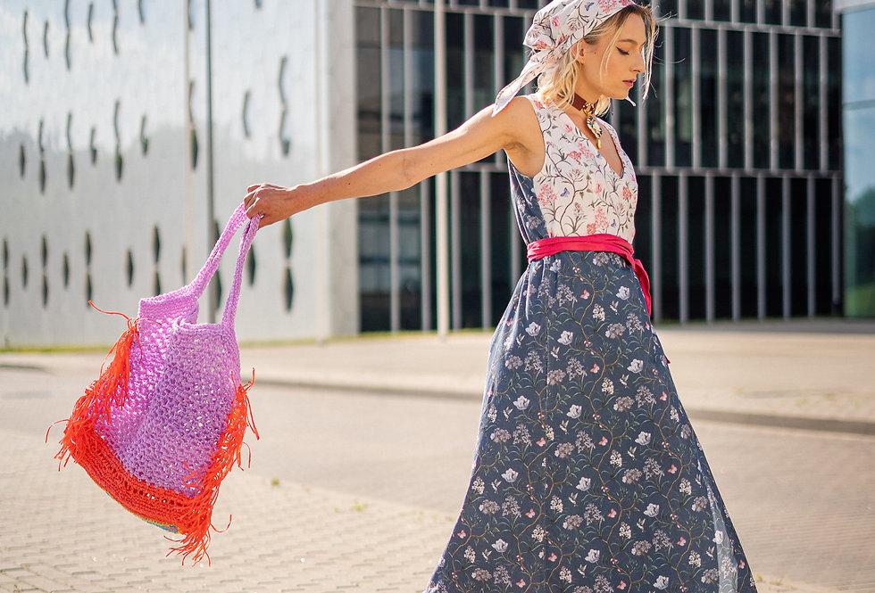 Wrap cotton dress