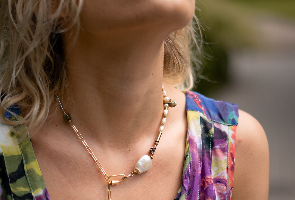 Handmade sustainable necklace