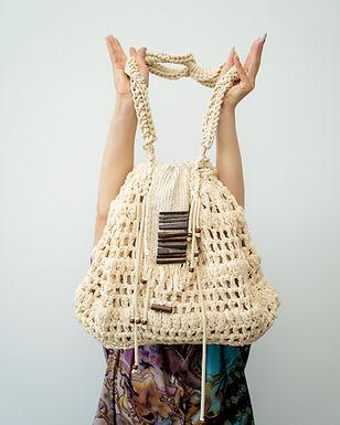 Crosheted cotton bag