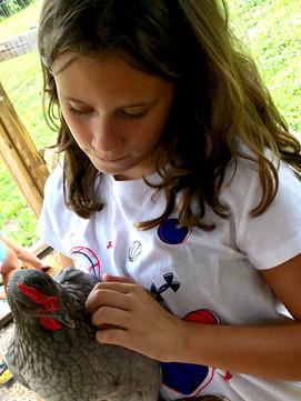 Elyssa loves her pet!