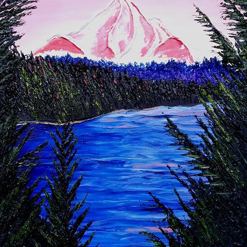 Pink Dusk Of Mount Hood #1