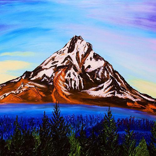 Autumn Sunrise Of Mount Hood