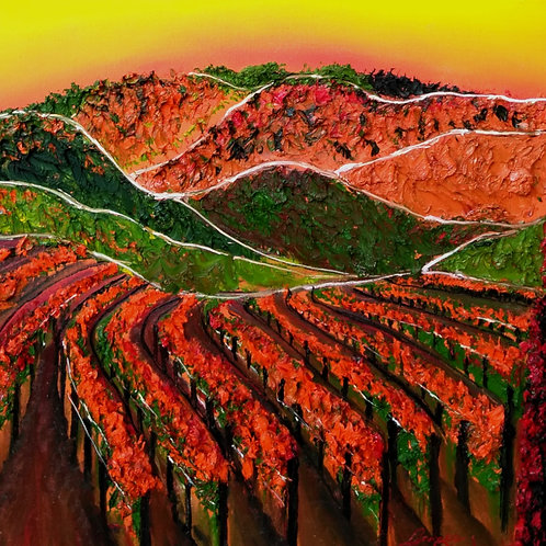 Color Of A Tuscan Vineyard
