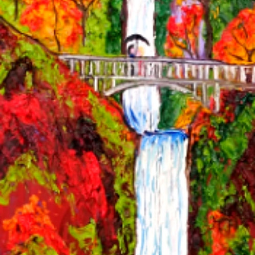Multnomah Falls At Autumn #5