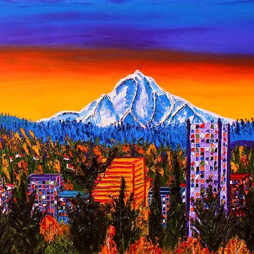 Autumn Colors Of Mount Hood