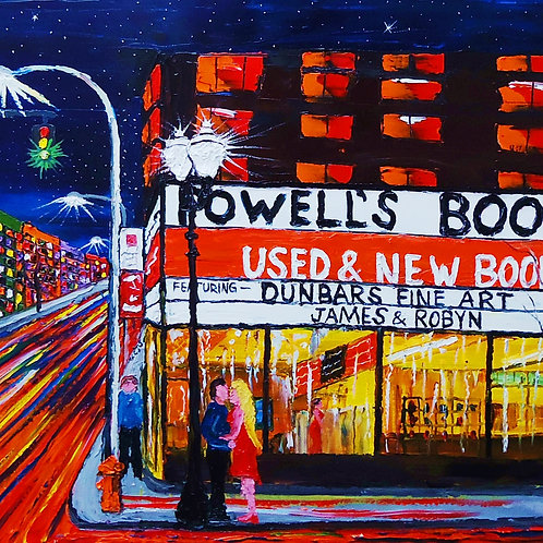 Powell's Book Store At Night #2