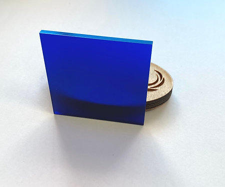 Frosted Cobalt Acrylic