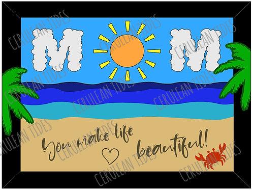 MOM Beach Scene Digital File (zipped PDF)