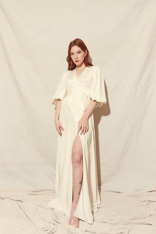 Kamperett | Loretta Silk Wrap Dress