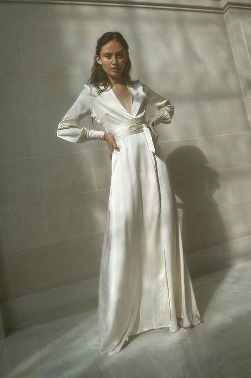 Kamperett | Adelaide Silk Maxi Wrap Dress