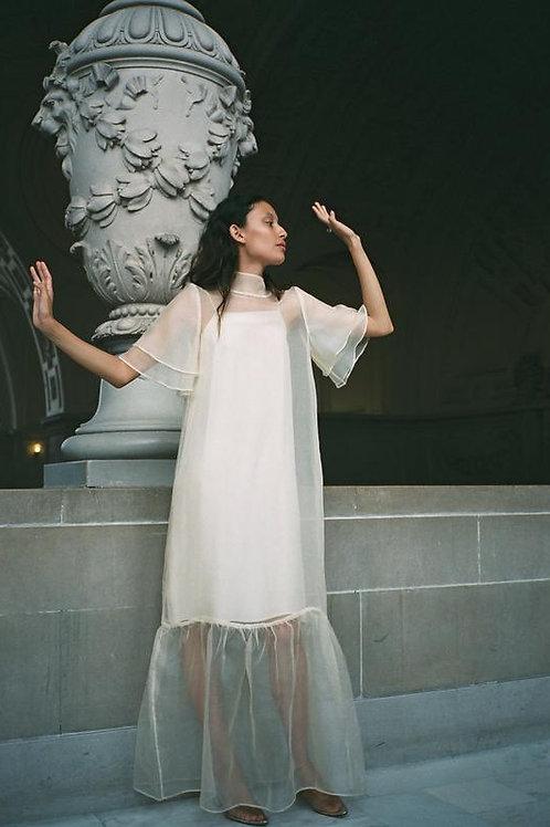 Kamperett | Barre Silk Organza Dress w/ Slip Dress