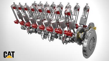 Caterpillar GCM43 Gasmotor
