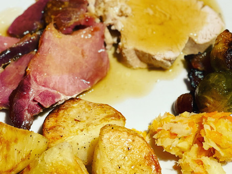 Christmas Ham and Turkey