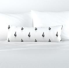 Extra long lumbar throw pillow cover
