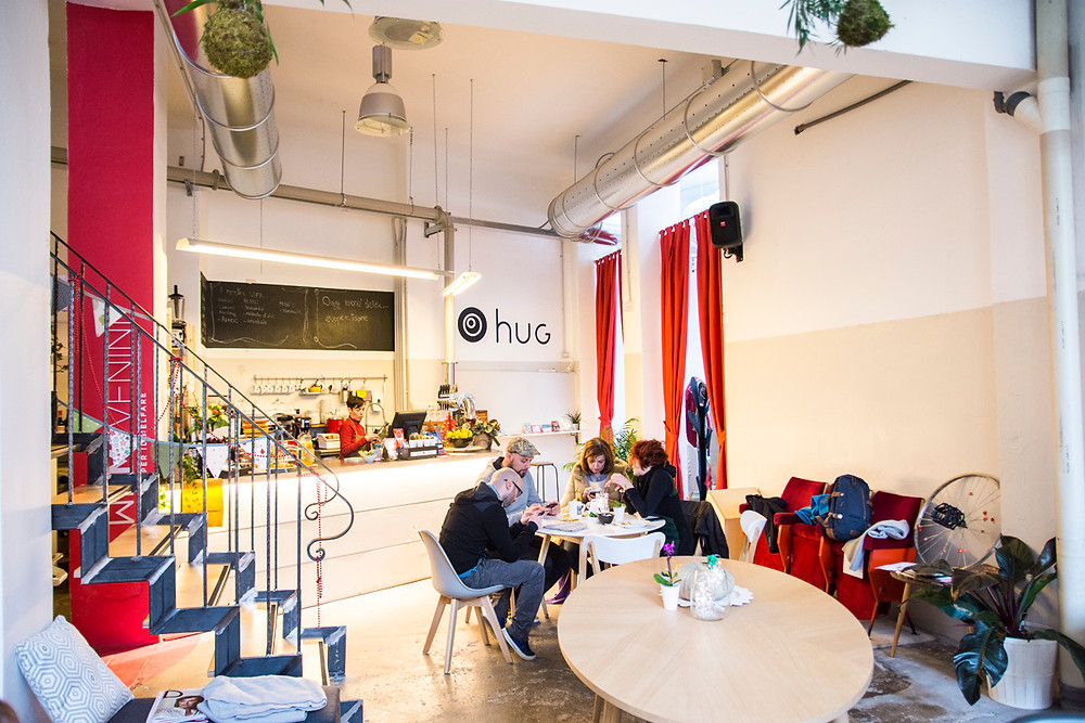 HUG Milano in NoLo area is a bar, coworking, hostel and meeting place