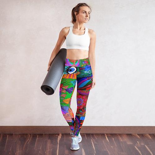 hand painted yoga leggings