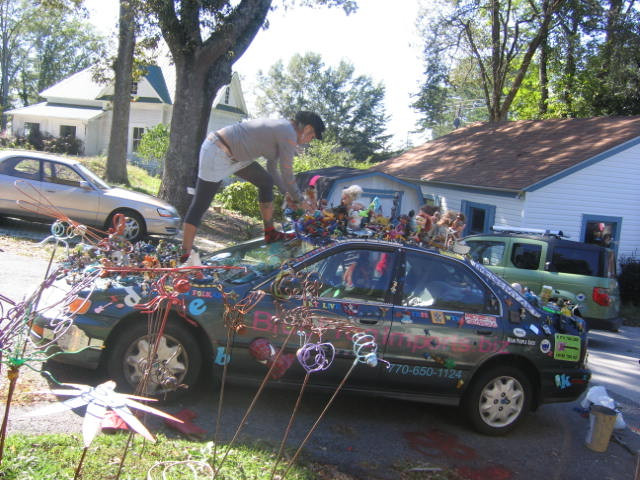 This was in the early days of Deidra working on the artcar back in 2006