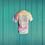 tie dye short sleeve shirt